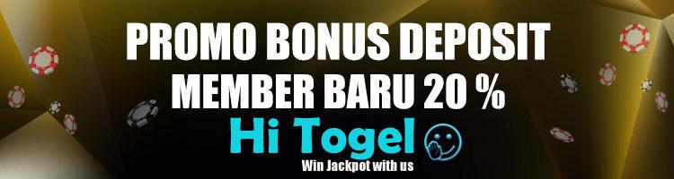Promo Bonus Deposit Di Hitogel Khusus Member Baru 20%
